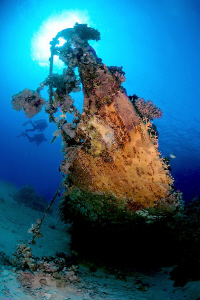 Bow of the sailing boat, St Johns, Red Sea. by Jim Garland